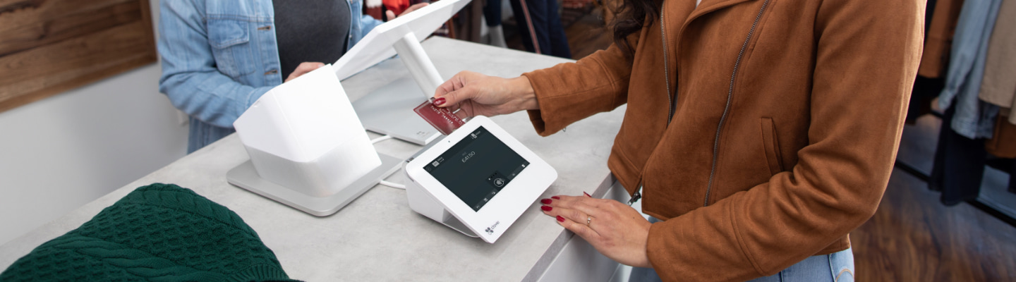 Taking a payment with a Clover POS solution