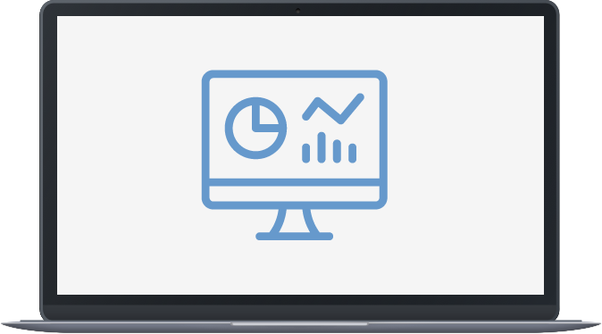 Data icon on laptop